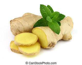 Ginger with peppermint
