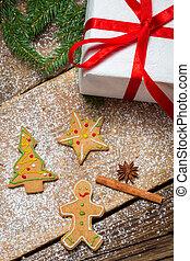 gingerbread のクッキー, わずかしか, 贈り物, クリスマス