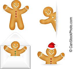 gingerbread, 人を配置する, セット, 大きい