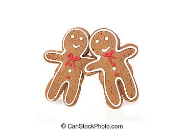 gingerbread, 恋人, 傾倒, に, eachother, 恋愛中である