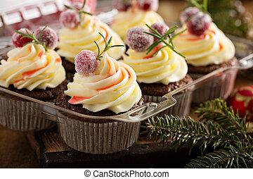 gingerbread, arando, cupcakes