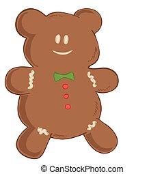gingerbread, bear.