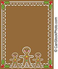 gingerbread, borda, homem