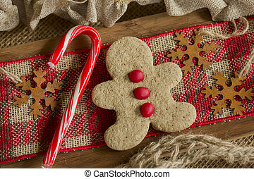 Gingerbread Boy and Candy Cane