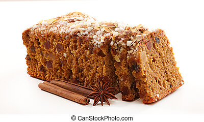 gingerbread cake isolated on white background