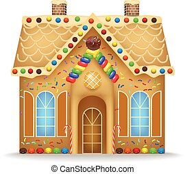 gingerbread, caricatura, casa