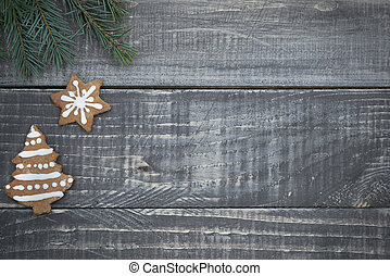 Gingerbread christmas tree and star