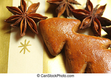 Gingerbread Christmas tree with aniseed