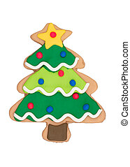 Gingerbread Christmas tree with gold star