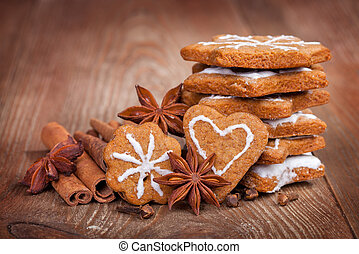 gingerbread, cinnamon sticks and star anise.