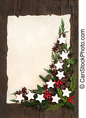 Gingerbread Cookie Border - Christmas abstract background...