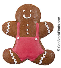Gingerbread cookie in the form of a man