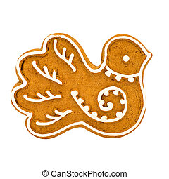 gingerbread cookie isolated on a white background