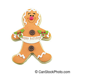 Gingerbread cookie isolated on white background