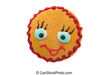 Gingerbread Cookie on a white background
