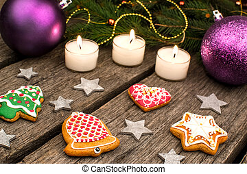 Gingerbread cookies and Christmas d