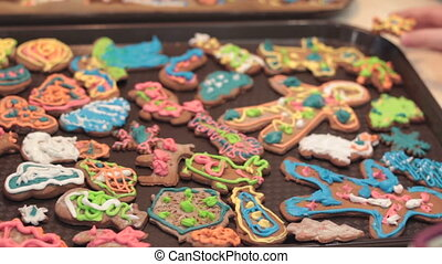 Gingerbread cookies. Christmas decoration. - Gingerbread...