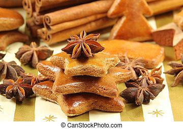 Gingerbread cookies - Christmas tree