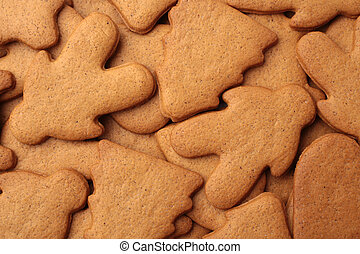 Gingerbread cookies, for backgrounds or textures