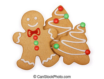 Gingerbread cookies - Gingerbread man with gingerbread...