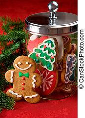 Gingerbread cookies - Gingerbread man next to a cookie jar...