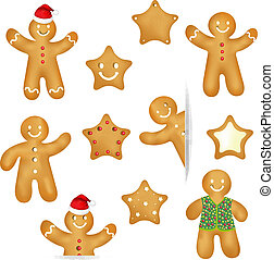 Gingerbread Cookies Set