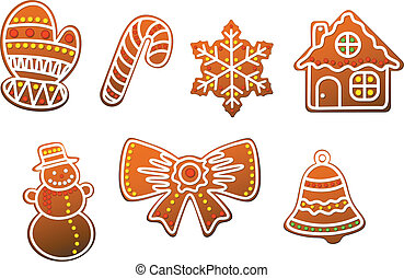 Gingerbread cookies set