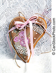 gingerbread cookies Valentine's Day heart-shaped