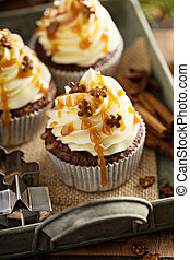 Gingerbread cupcakes for Christmas