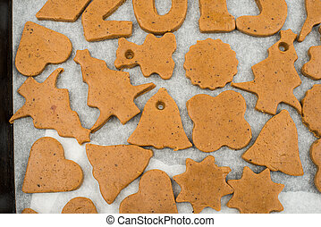 Gingerbread dough for Christmas cookies