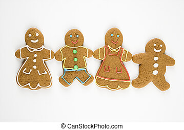 gingerbread, family.
