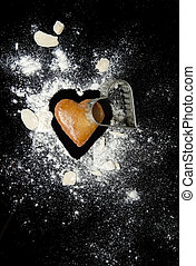 Gingerbread heart and cutter