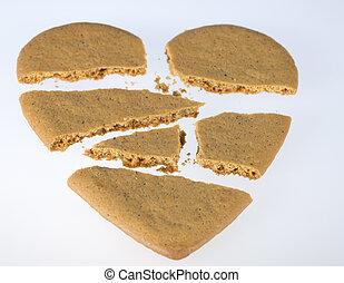 Gingerbread Heart Broken