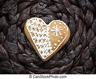 Gingerbread heart of love