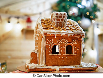 Gingerbread house at the Vilnius Christmas Market in Lithuania