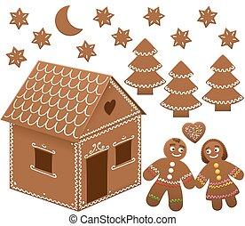 Gingerbread House Man Woman Love