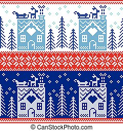 Gingerbread house, snow pattern