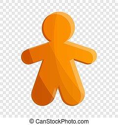 Gingerbread icon, cartoon style