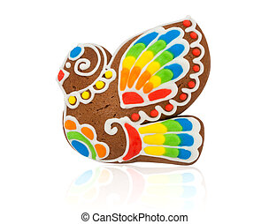 Gingerbread in the form of a bird
