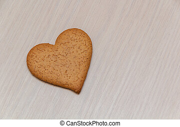 gingerbread in the form of heart