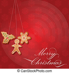 gingerbread koekje, kerstmis