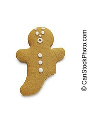 Gingerbread Man - A surprised looking gingerbread man with a...