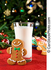 Gingerbread man and milk