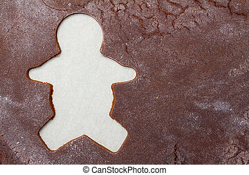 Gingerbread man background