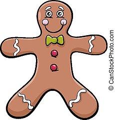gingerbread man cartoon illustration