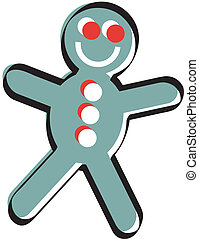 Gingerbread man Christmas clip art