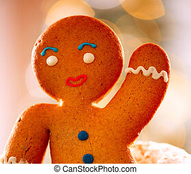 Gingerbread Man. Christmas Holidays