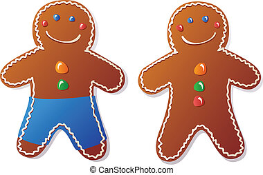 Gingerbread man vector clip art search illustration drawings gingerbread man voltagebd Image collections