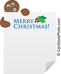 Gingerbread Man holding Paper