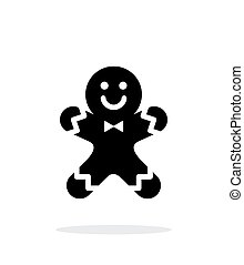 Gingerbread man icon on white background.